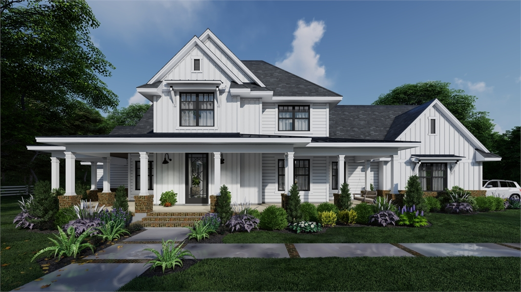 Farmhouse Plans & Country Ranch Style Home Designs by THD on