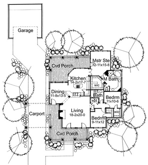 First Floor Plan image of The Wharton House Plan