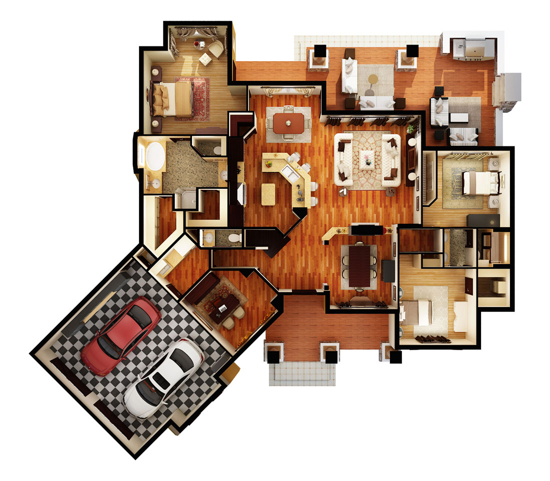 First Floor Plan (3d)