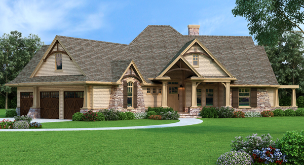 A craftsman house plan with everything today 39 s homeowner wants for Colorado style house plans