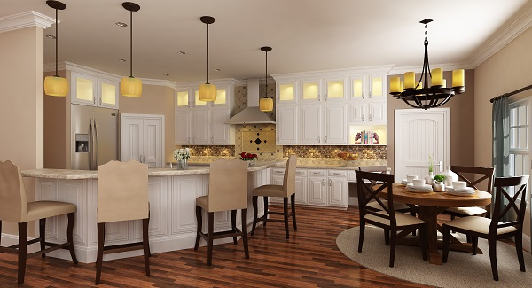 dining area for weekly dinners adds to the functionality of this home
