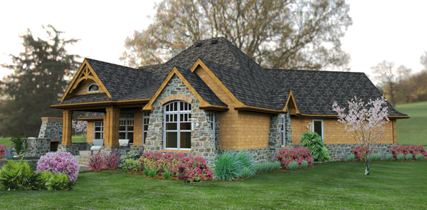 Craftsman house plan perfect for a growing family on