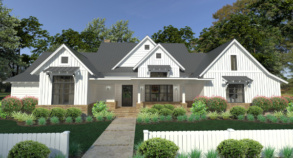 Exceptional Featured Home Design. Farmhouse Plan With Modern Amenities Gallery