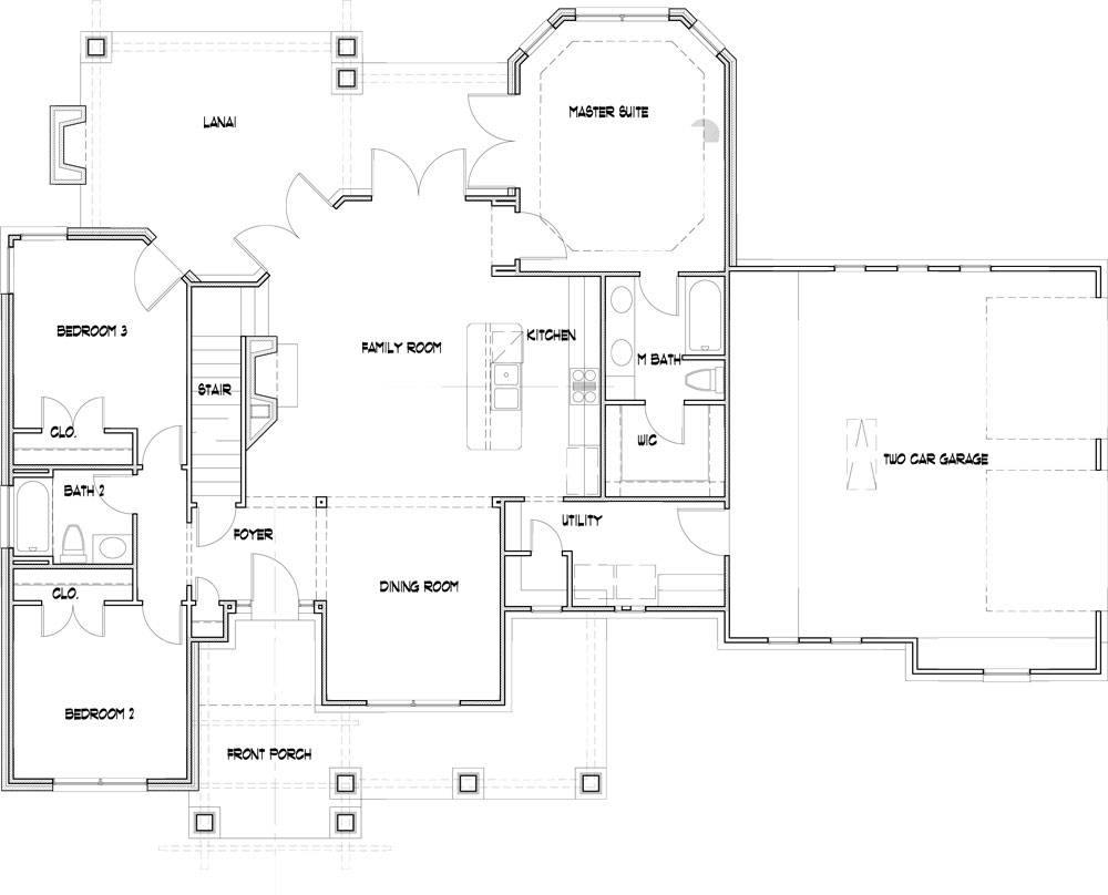 Attached 2-car Garage image of Merveille Vivante Small Plan