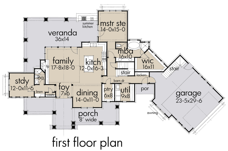 Magnolia Farm House – Farm House Floor Plan