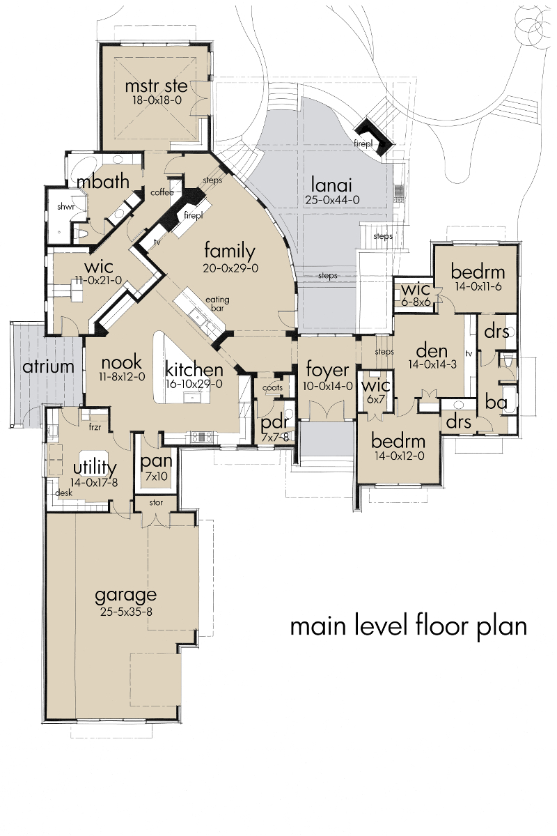 Foyer Plan Quote : Beautiful island resort home