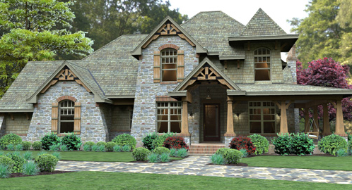 European House Plans, Small French Cottage & Modern Style ... on