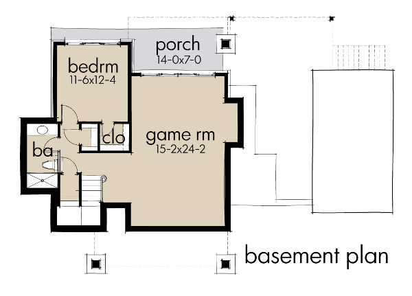 tiny basement floor plan