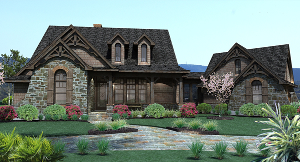 House Plan 2138: Craftsman with Angled Garage