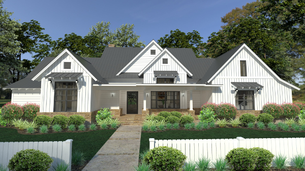 Farmhouse plans country ranch style home designs by thd for Country style farmhouse plans
