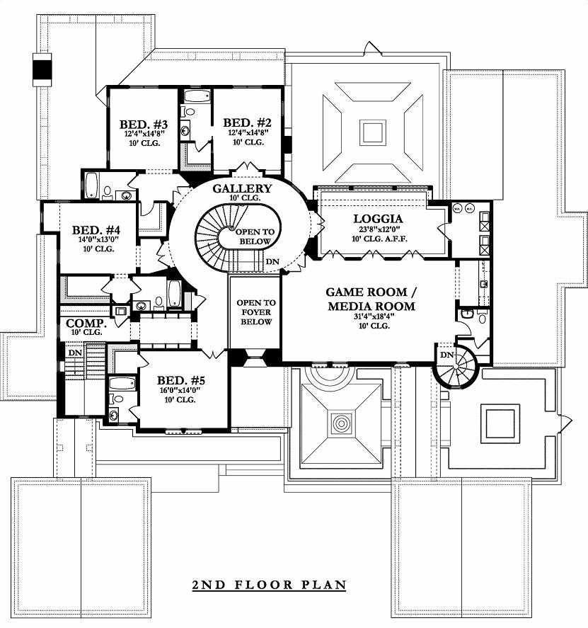 Five Bedroom Mediterranean House Plan