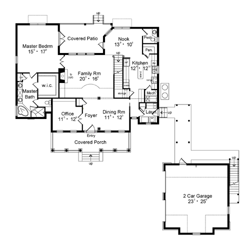Colonial carrington 3146 3 bedrooms and 2 baths the for Carrington plan