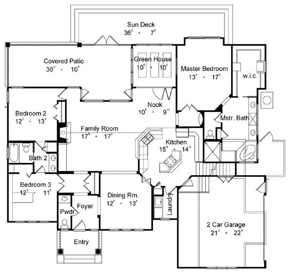 Country one story house plan for Best small house floor plans