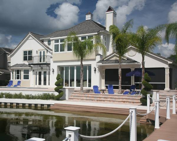 European influenced coastal home plan