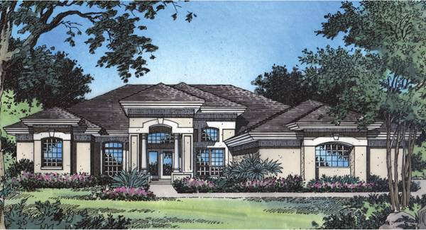 Seville 4042 on Single Story Log Home Floor Plans