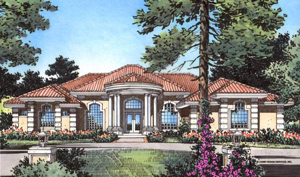 Front Elevation For Three Floor House : San simeon bedrooms and baths the house designers