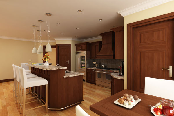 small luxury kitchen design