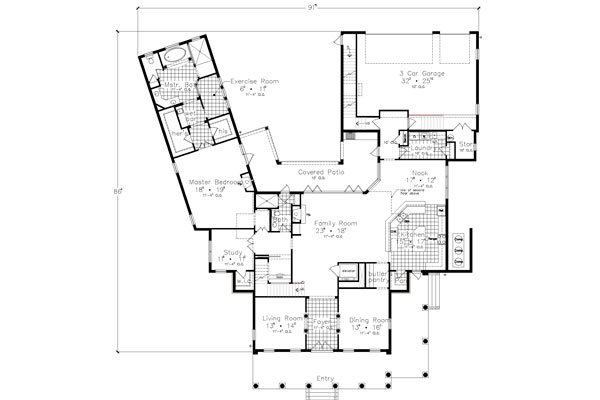 Southern Home Plan With Good Design
