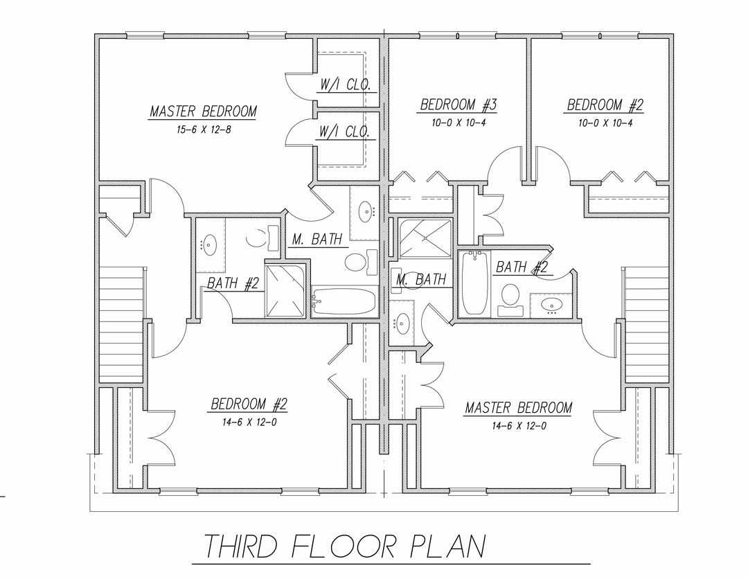 Tidewater duplex 9172 3 bedrooms and 2 baths the house for Tidewater house plans
