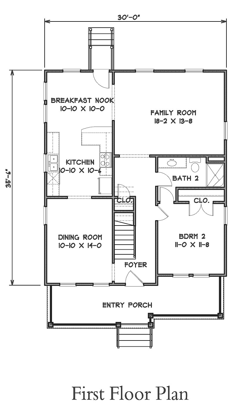 Narrow Lot Cottage Plans