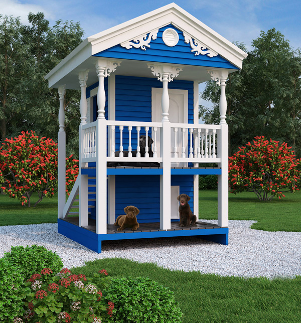 Do It Yourself Home Design: Two-Story Playhouse And Doghouse Design
