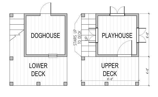 Two Story Playhouse And Doghouse Design