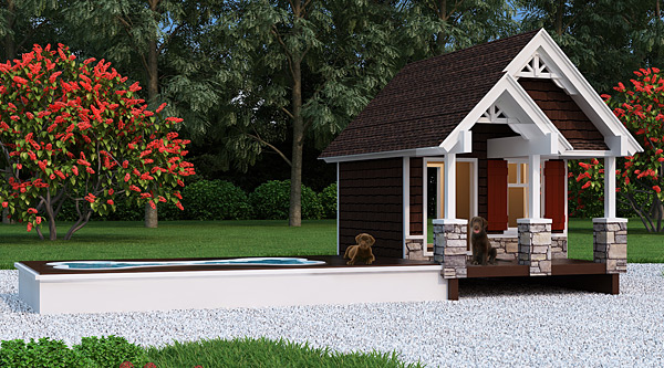 doghouse plan with pool. Black Bedroom Furniture Sets. Home Design Ideas