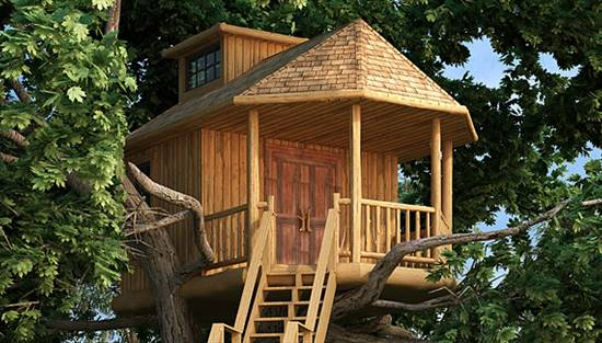 image of Lookout Tree House House Plan