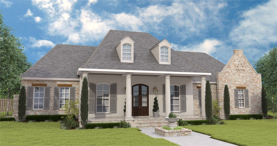 Lovely Acadian Southern Style House Plan 6903