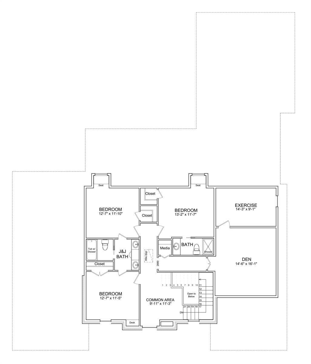 Luxury Two Story European Style House Plan 7526 Jolie