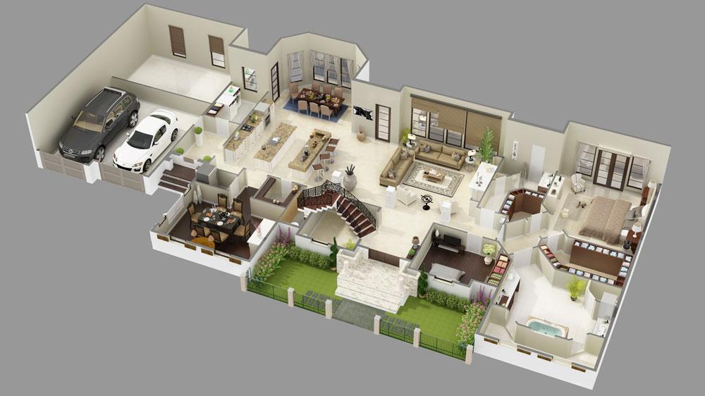Elizabeth Court Luxury House Plan 9643