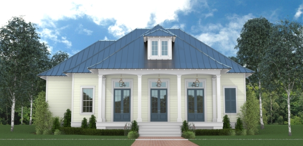 Southern one story house plan Southern charm house plans