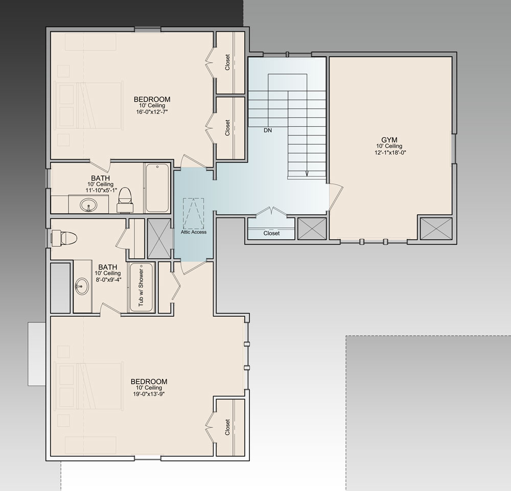 the ingalls 9772 3 bedrooms and 3 baths the house designers 2nd floor