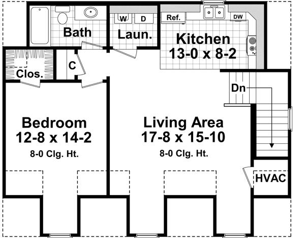 Village circle 4205 1 bedroom and 1 5 baths the house Village house plan