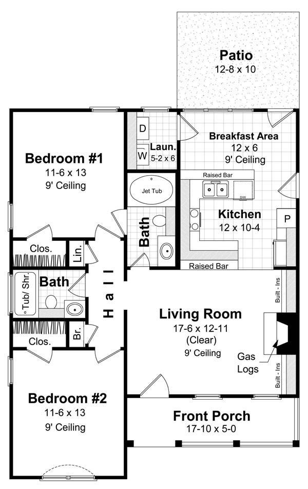 The Chesterfield 5860 - 2 Bedrooms And 2.5 Baths | The House Designers