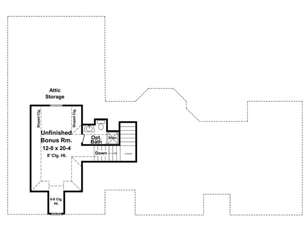 Bonus Room Floorplan