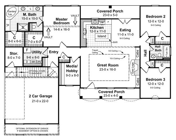 Floorplan image of The Remington House Plan