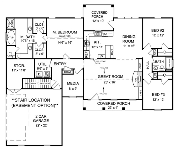 Wonderful Split House Plans Amusing Split House Plans: Mockingbird Hill 5722 - 3 Bedrooms And 2.5 Baths