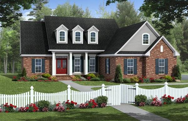 The brentwood avenue 1022 3 bedrooms and 2 5 baths the for Brentwood house plan