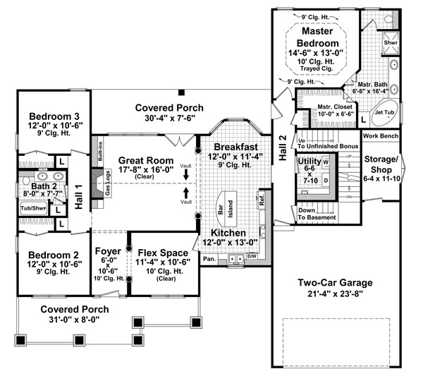 The lexington avenue 8565 3 bedrooms and 2 5 baths the for 1800 sf home plans