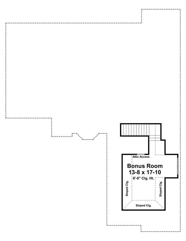 Bonus Room Floorplan image of The Greystone House Plan