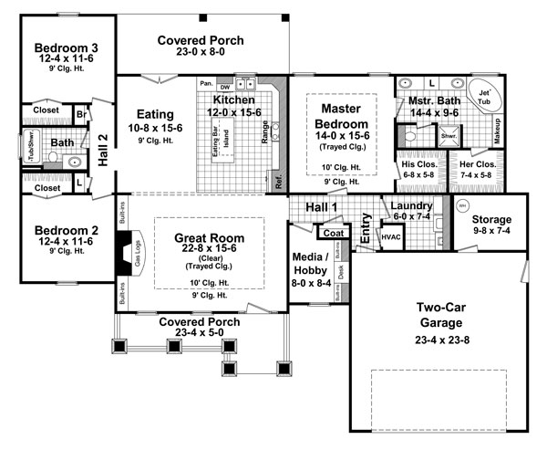 1st Level Floorplan image of The Creekmont