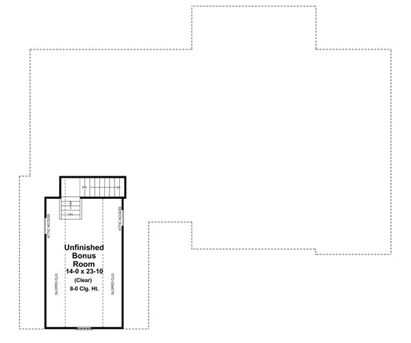 Bonus Room Floorplan image of The Forrest Wood House Plan