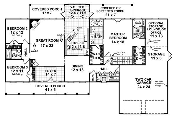 The down homer 5758 3 bedrooms and 3 5 baths the house for 2100 square foot house plans