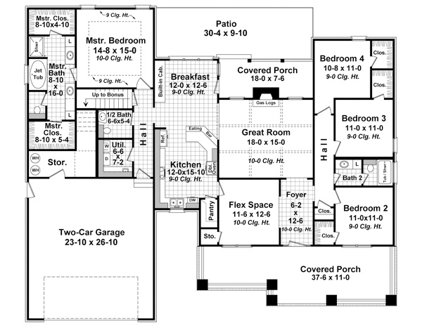 1st Level Floorplan image of The Madeline Lane House Plan