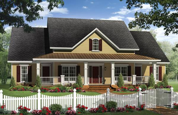 It S No Wonder This Four Bedroom Country Home Is A Customer Favorite From Our Affordable House Plan Collection
