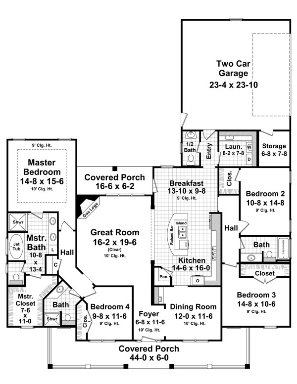 The aspen creek 8562 4 bedrooms and 3 baths the house for Aspen homes floor plans