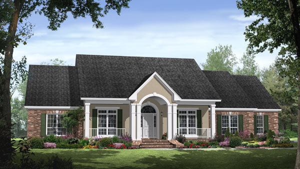 The breckenridge lane 8223 4 bedrooms and 3 baths the Italian country home plans