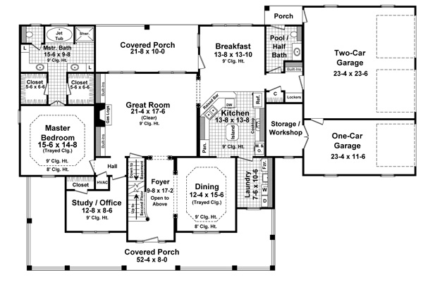 The hudson park 1600 4 bedrooms and 3 baths the house for 1600 sq ft open concept house plans