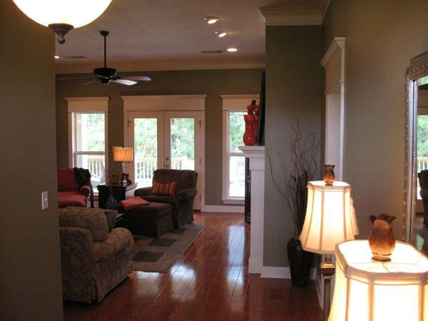 Foyer Into Great Room : Country craftsman style house plan with porches